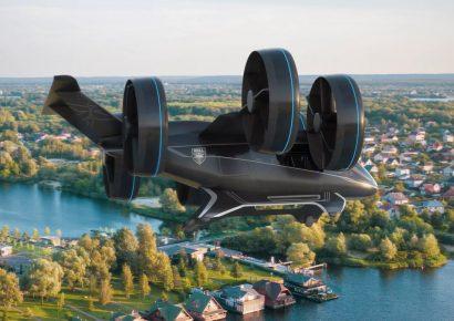 Летающий автомобиль BELL NEXUS на выставке CES 2019 в Лас-Вегасе