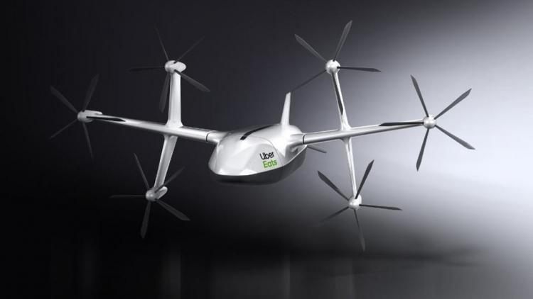 Компания Uber представила новый дизайн дрона для сервиса доставки еды