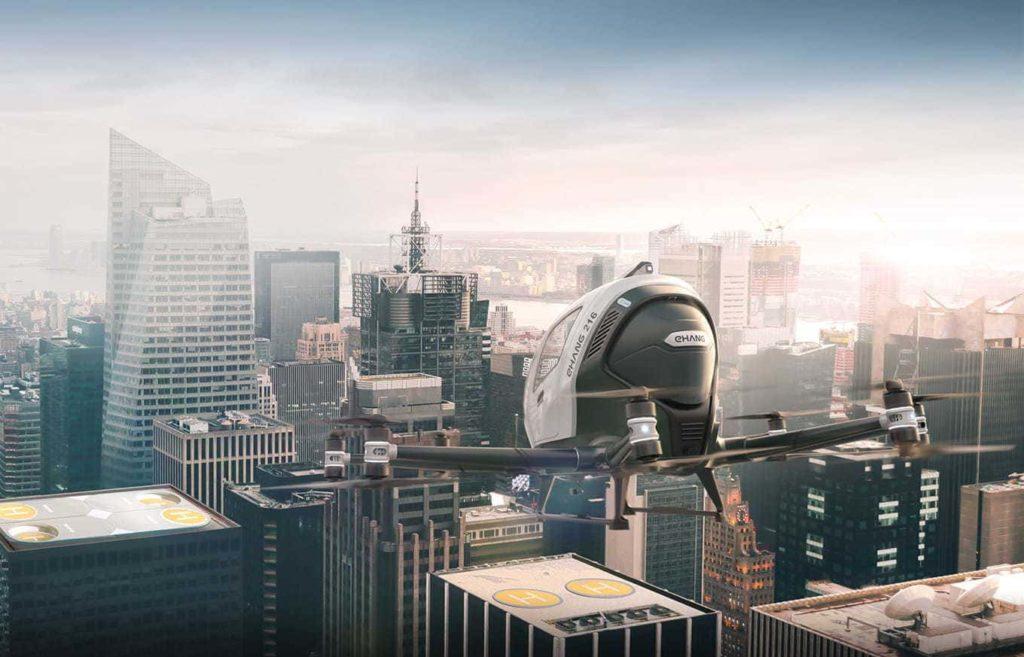 В Южной Корее впервые прошли полеты пассажирских дронов-такси